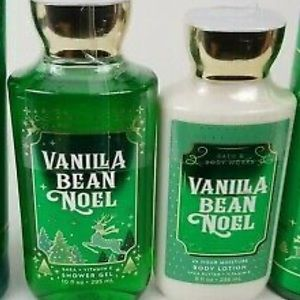 Bath & Body works Vanilla Bean Noel Lotion and Gel